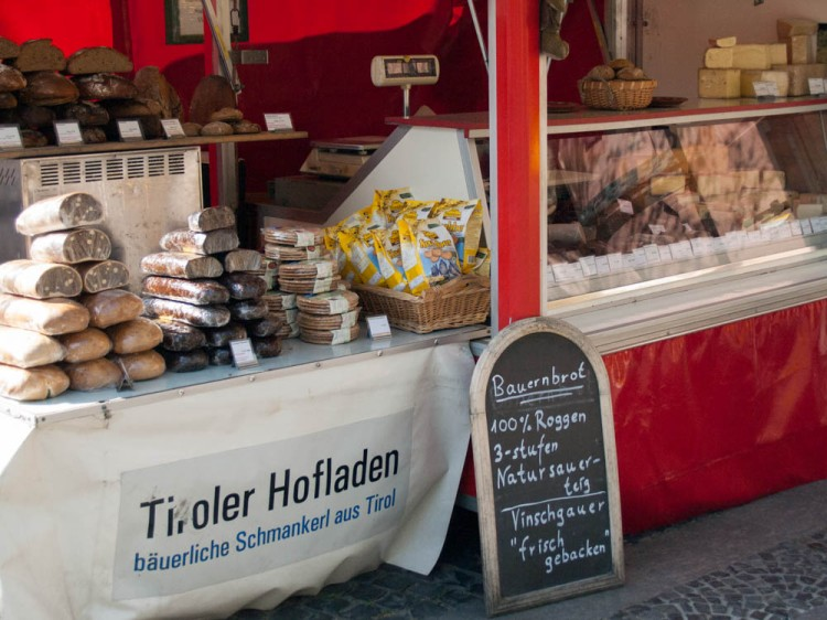 Meat--a very important part of the farmers' market in Germany!