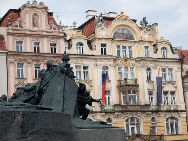 Jan Hus memorial.