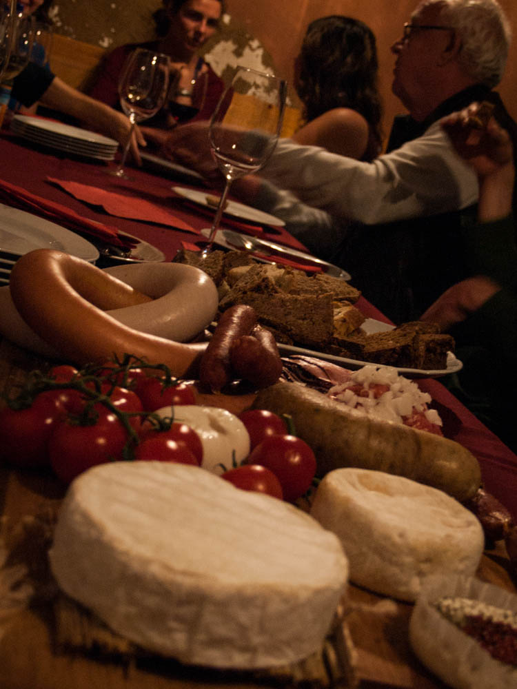 Meat, bread, and cheese--the best of the best of German cuisine.