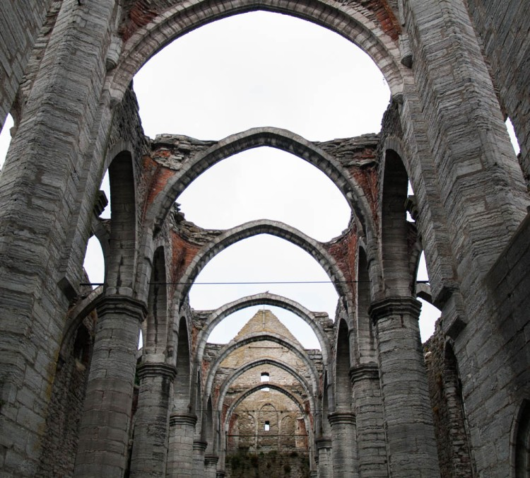 Cathedral ruins in Visby. Many catholic churches on the island were abandoned after the Reformation.