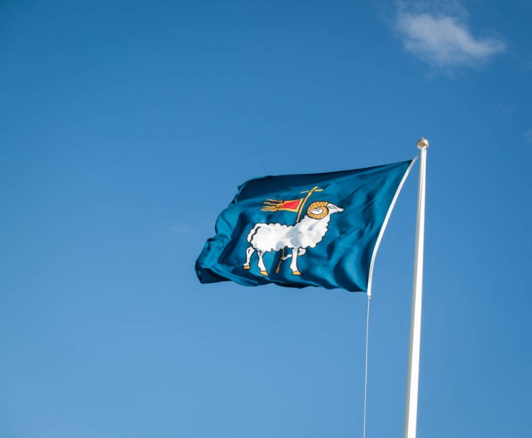 The flag of Gotland Island.