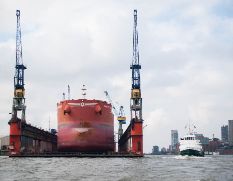 All container ships are required to be dry-docked once every five years.