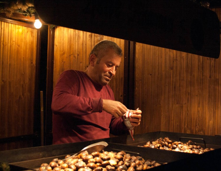 But also roasted chestnuts....